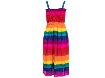 Letní šaty duhové