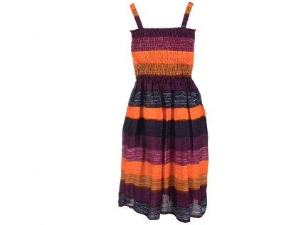 Letní šaty pruhované