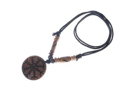 Kostěný přívěšek na stahovací bavlnce Kruh