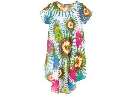 Letní šaty s rukávky bílé