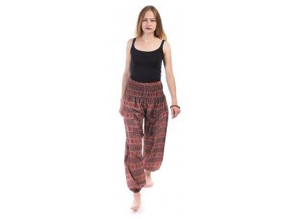 Indické kalhoty s kapsami Mantra hnědé