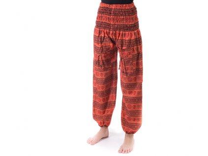 indické kalhoty Mantra oranžové