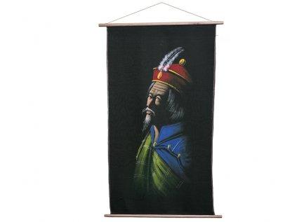 Ručně malované plátno z Dharamsaly (52x90 cm)