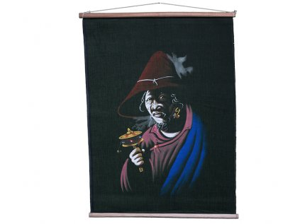 Ručně malované plátno z Dharamsaly (malé)