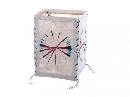 Lampion z ručního lokta papíru Batika bílá
