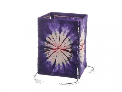 Lampion z ručního lokta papíru Batika fialový
