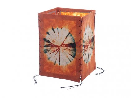 Lampion z ručního lokta papíru Batika oranžový