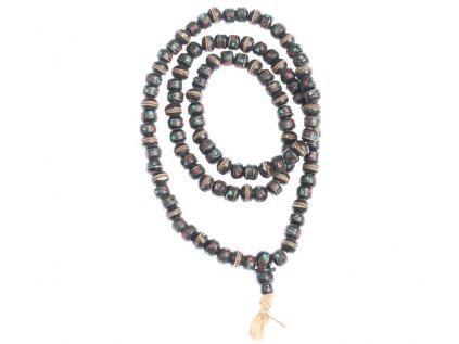 Originální kostěná japa mala černá