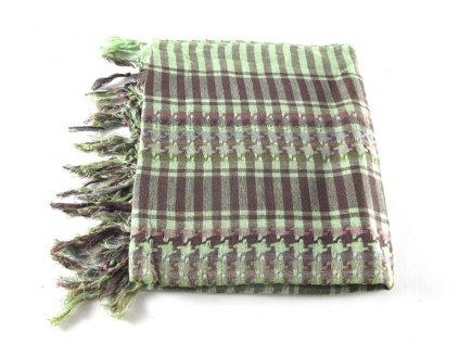 Šátek arafatka duhový světle zelený