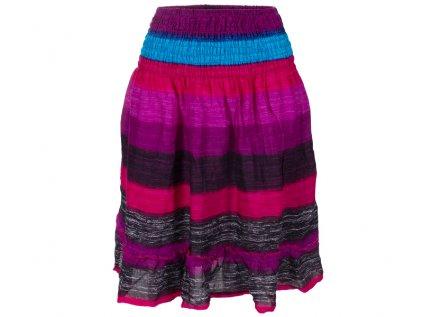 krátká letní sukně s pruhy dofialova