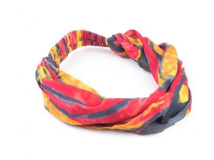 Šátek do vlasů Hippie červenožlutá