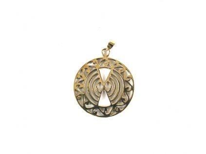 Mosazný amuletpřívěšek mosaz