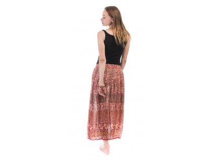 Lehounká indická sukně béžová
