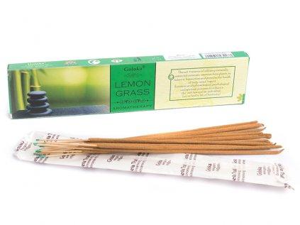 Vonné tyčinky Lemon Grass (Goloka)