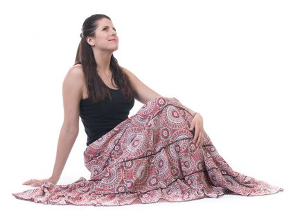 Dlouhá mandalová sukně z Indie