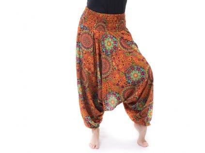 Turecké kalhoty/tunika 2v1 oranžové
