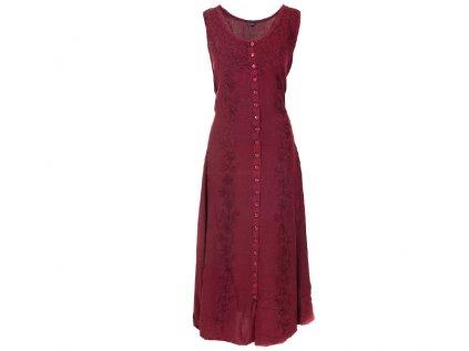 Dlouhé propínací šaty vínové