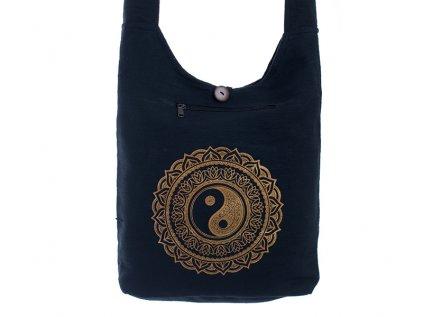 Látková taška přes rameno Gold&Black Jin Jang