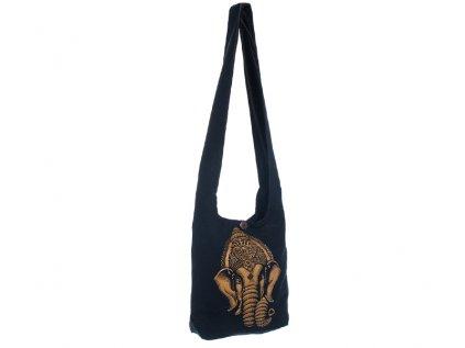 Látková taška přes rameno Gold&Black Ganesh