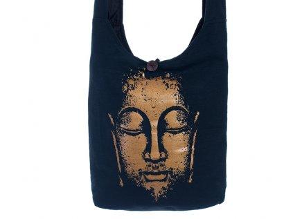 Látková taška přes rameno Gold&Black Buddha