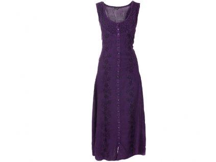 Dlouhé propínací šaty fialové