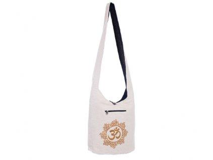 Látková taška přes rameno Gold&Nature white Óm