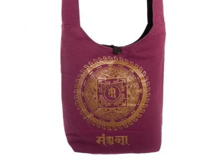 Látková taška přes rameno Gold&Maroon Mandala