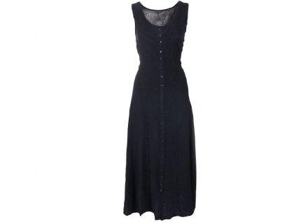 Dlouhé propínací šaty černé