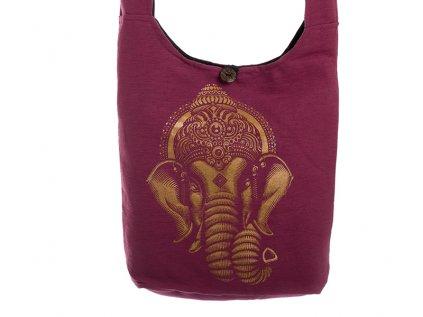 Látková taška přes rameno Gold&Maroon Ganesh