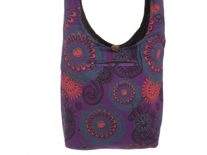 Látková taška přes rameno Mandaly fialová