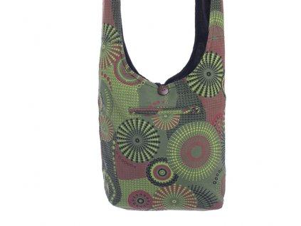 Látková taška přes rameno Mandaly zelená