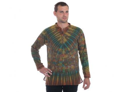 Batikovaná kurta zelená