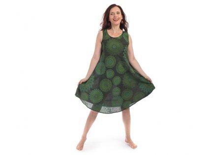 Bavlněné šaty Mandaly zelené