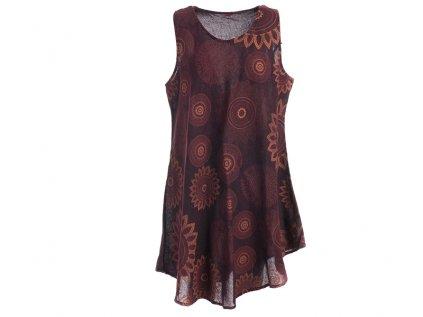 Bavlněné šaty Mandaly vínové