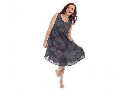 Bavlněné šaty Mandaly šedé