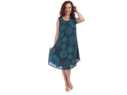 Bavlněné šaty Mandaly modré