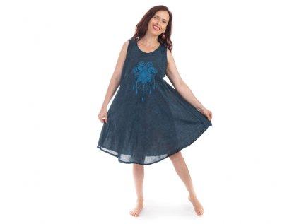 Bavlněné šaty Lapač snů modré