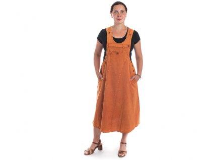 Originální šaty s laclem oranžové