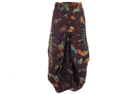 Dlouhá sukně stonewash batika hnědá