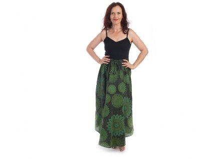 sukně mandaly zelená