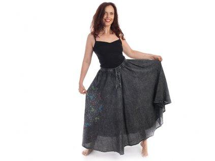 sukně mandala šedá zezadu3