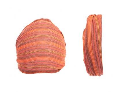 Šátek do vlasů pruhovaný oranžový