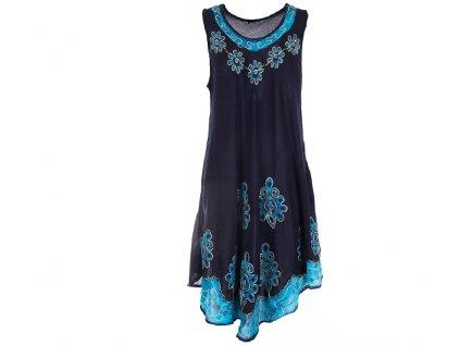 Tmavomodré batikované šaty