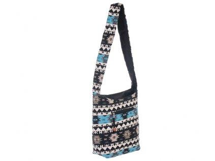Taška přes rameno India Folk modročerná