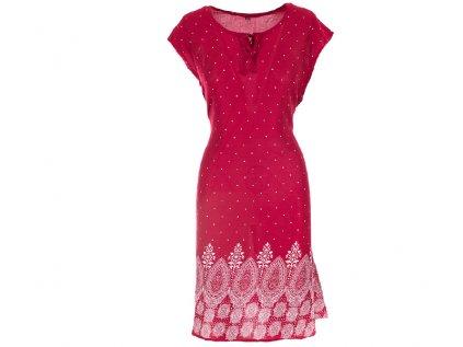 Letní červené šaty s puntíky