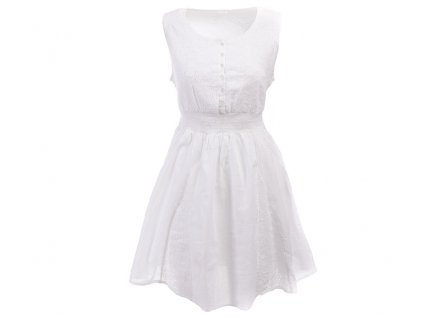 Krátké BÍLÉ bavlněné šaty s krajkou