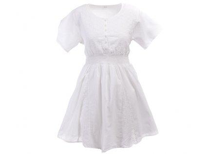 Krátké bílé bavlněné šaty s rukávky