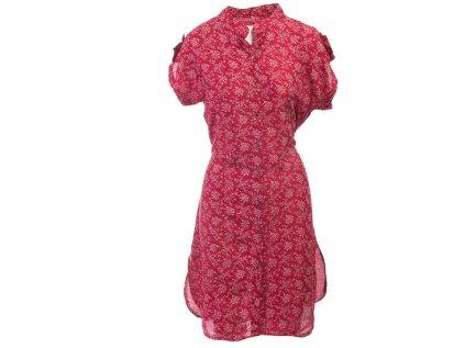 Celopropínací košilové šaty červené