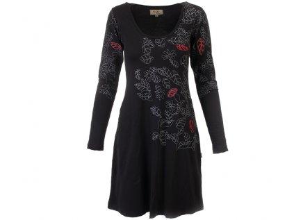 Černé podzimní šaty z organické bavlny