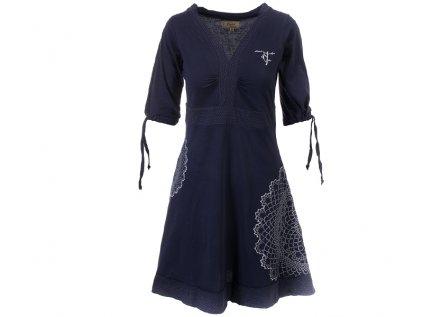 Tmavomodré šaty z organické bavlny